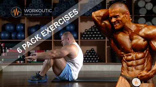 Abs exercises - Sit - Up Arms Assisted - Workoutic - 6 Pack
