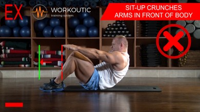 Abs Exercises  Sit - Up - Arms in Front of Body  | Workoutic