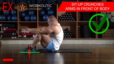 Abs exercises - Sit - Up - Arms in Front of Body - Workoutic - 6 Pack 3