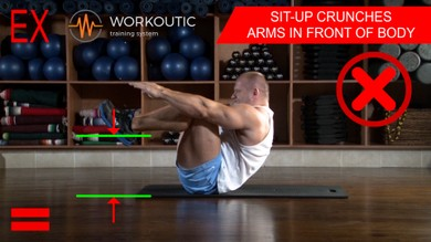 Abs exercises - Sit - Up - Arms in Front of Body - Workoutic - 6 Pack 5