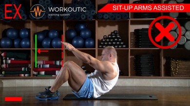 Abs exercises - Sit - Up Arms Assisted - Workoutic - 6 Pack 4