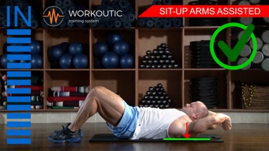 Abs exercises - Sit - Up Arms Assisted - Workoutic - 6 Pack 1