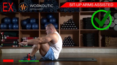 Abs exercises - Sit - Up Arms Assisted - Workoutic - 6 Pack 3
