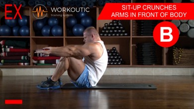 Abs exercises - Sit - Up - Arms in Front of Body - Workoutic - 6 Pack B