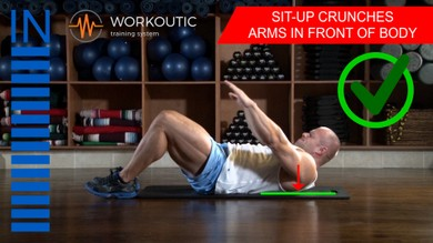 Abs exercises - Sit - Up - Arms in Front of Body - Workoutic - 6 Pack 1