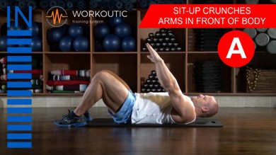 Abs exercises - Sit - Up - Arms in Front of Body - Workoutic - 6 Pack A