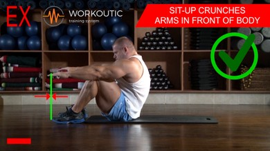 Abs exercises - Sit - Up - Arms in Front of Body - Workoutic - 6 Pack 2