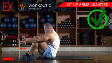 Sit - Up Arms Assisted - Workoutic - Abs exercises - 6 Pack 2