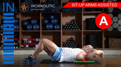 Abs exercises - Sit - Up Arms Assisted - Workoutic - 6 Pack A