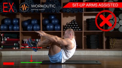 Abs exercises - Sit - Up Arms Assisted - Workoutic - 6 Pack 5